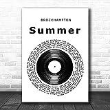 Brockhampton Summer Vinyl Record Song Lyric Music Art Print Print Wall Decor Art Gifts Lovers Poster