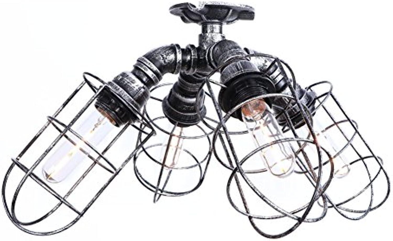 MUMU LED Deckenleuchte Hngeleuchte Industrial Retro Vintage 4 Pendelleuchte Schatten E27 für Schlafzimmer Wohnzimmer Lager Restaurant Bar Counter Attic Buchhandlung Flur Dekoration