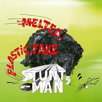 Melted, fake, plastic