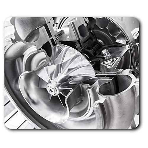 Estera cómoda del ratón - Enfriar turbocompresor de los hombres de coches 23.5 x 19.6 cm (9.3 x 7.7 pulgadas) para la computadora y ordenador portátil, oficina, regalo, base antideslizante - RM2233