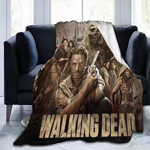 Lphdfoxh1 The Walking Dead - Manta de franela para el sofá