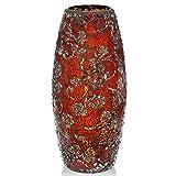 London Boutique - Vaso decorativo da fiori con brillantini scintillanti a mosaico, idea regalo, Vetro, 30yg Rosa Rossa, Height 31cm* Diameter 8 cm