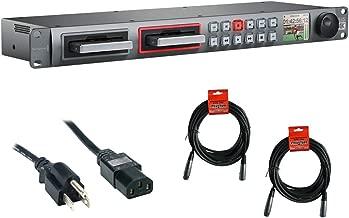 Blackmagic Design HyperDeck Studio Pro 2 with PC Power Cord 6' & (2) XLR-XLR Cable Bundle