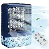 Evaporative Air Cooler,Personal Mini Air Cooler with Remote & Battery,Portable Air Cooler