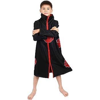 CoolChange Abrigo de Akatsuki para niños Disfraz Cosplay, tamaño ...