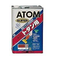 アトムハウスペイント 油性スーパートタン用 赤錆 14L