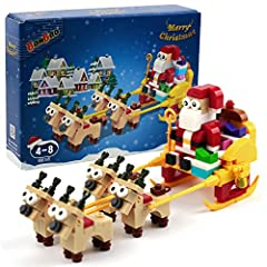 First Choice Gift: Christmas package is a hot product in toy stores, children love it, Christmas building blocks are made by themselves, which can make children have fun and wisdom. BanBao Building Block Toy: The product is after third-party testing ...