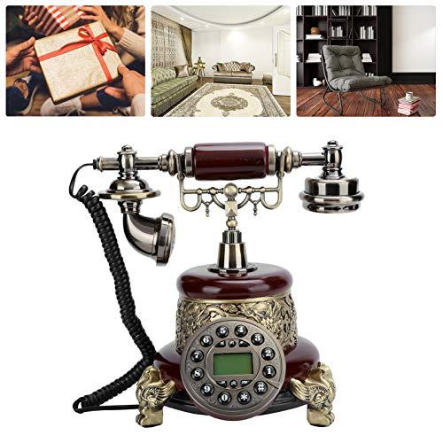 PUSOKEI Teléfono Antiguo Retro, teléfono de marcación con función Manos Libres, Adecuado para la decoración de la Oficina del Hotel en casa,