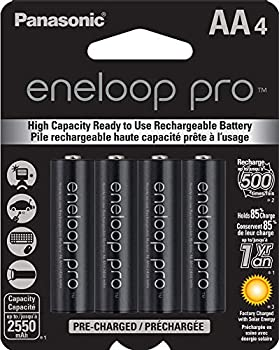 Panasonic BK-3HCCA4BA eneloop pro AA High Capacity Ni-MH Pre-Charged Rechargeable Batteries 4 Pack Black