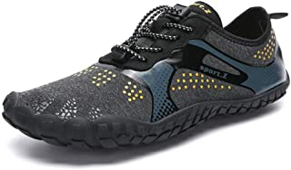 Kenswalk Men's Aqua Water Shoes Lightweight Quick Drying Boating Barefoot Sneakers for Beach Pool Swim