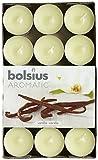 Aromatic Bolsius - Boîte De 30 Bougies Chauffe-Plat 4 Heures Parfumées Vanille