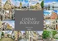 Lindau Bodensee Impressionen (Wandkalender 2022 DIN A2 quer): Erleben Sie einen Spaziergang durch das wunderschoene Lindau (Monatskalender, 14 Seiten )