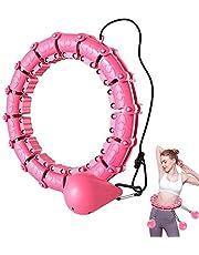Aros De Hula para Adultos Ejercicio Ajustable, Aros De Hoola De Fitness Inteligente para Ejercicio, con Bola De Gravedad Suave para Adultos Cintura Delgada para Entrenamiento En Casa