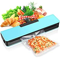 SKYGRAND Automatic Vacuum Sealer Machine for Food Savers with Starter Kit (Blue)