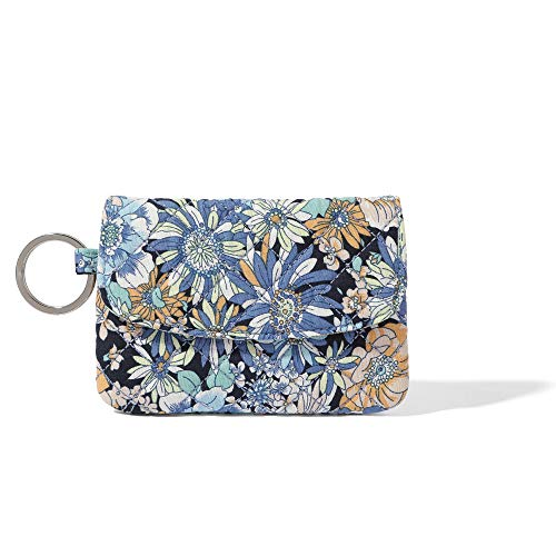 Small Cotton Coin Purse, Keychain Coin Pouch with Zipper Pocket, Card Case Wallet for Women/Men