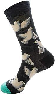 Hombres Calcetines Gráficos Algodón Peinado Dibujos Animados Ovejas Animal Pájaro Camarones Pluma Pescado Alpaca Comida para Perros Novedad Geométrica Feliz Divertido Calcetín