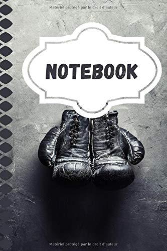 NoteBook Boxe: Carnet de Note | Gant de Boxe Noir | 120 pages | Pour passionné de Boxe | Sport de Combat | Carnet de note avec pages lignés