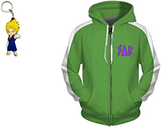 Geek Gear Dragon Ball Super Broly SAB Hooded Sweater Vegeta Zipper Jacket Goku Hoodie Free Beanie