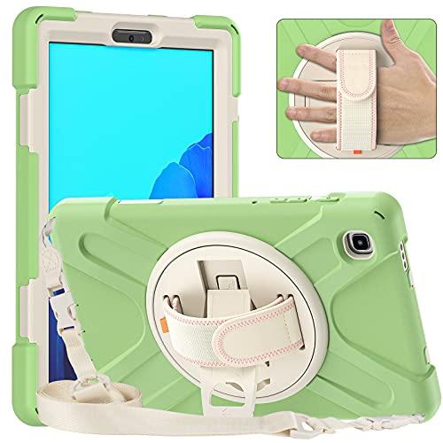 Tablet PC Bolsas Bandolera Tablet Funda para Samsung Galaxy Tab A7 Lite 8.7 T220, Cubierta a prueba de golpes a prueba de choques de cuerpo completo con correa de mano / correa de hombro Kickstero gir