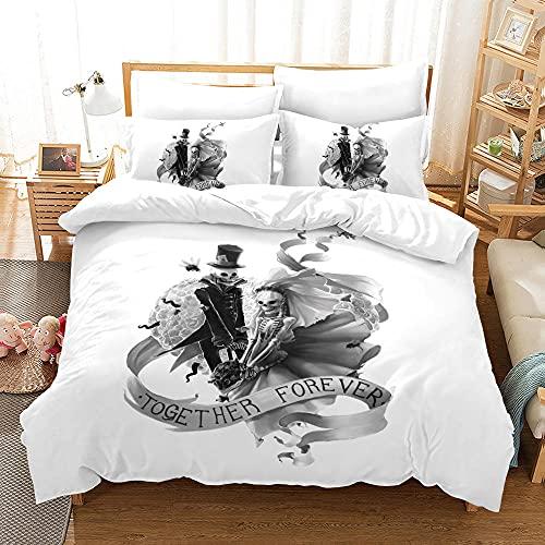 Bedclothes-Blanket Juego de Cama 150,Caso 3D Impresión Digital de Ropa de Cama de Tres Piezas-6_200 * 200
