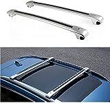 Coche Bacas Barra para Nissan X-Trail Rogue 2014-2018, Barras portadoras de aluminio Portaequipajes Bastidores de bicicletas Accesorios