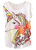 Doballa Mujeres patrón de Lindo Arco Iris Unicornio de Manga Corta Camiseta Tops Lindos