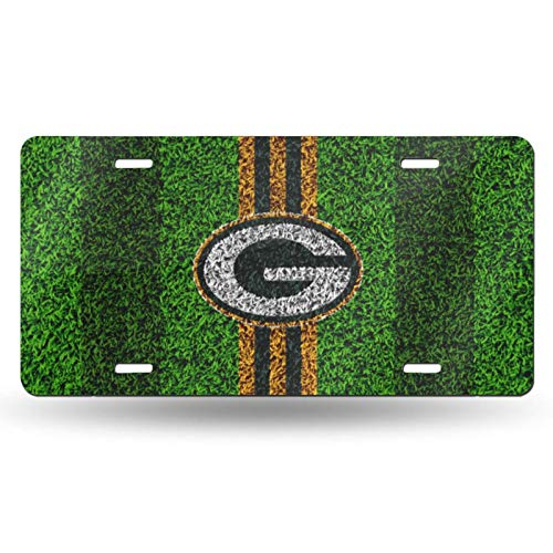VF LSG Green Bay Packers License Plates Frames,American Football Design Metal Car Plate Universal American Auto Easy Installation 6×12 inch