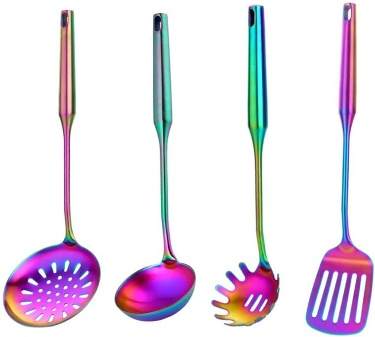 Meisha Mail excellence order cheap Kitchen Utensil Set 4pcs Stainless Steel Cooking