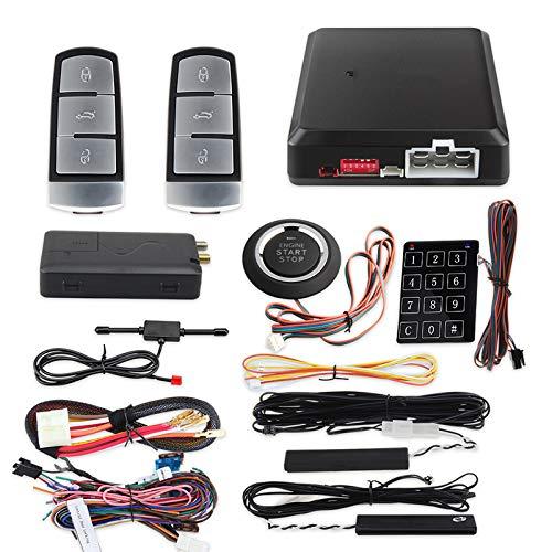 GLLXPZ Sistema de Entrada sin Llave para teléfono Inteligente, Arranque y Parada, Arranque Remoto del Motor, GPS, Sistema de Seguridad para Coche gsm, DC12V