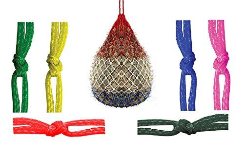 Slow Feed Pferd Heu Net Tasche Heunetz für Pferde Feeder Robust haybag POLYTARP Tasche groß 106,7cm Zoll, Patriotische rot weiß und blau, grün, schwarz, pink, rot, royal blau oder gelb, grün