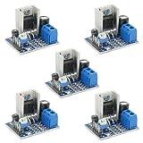 ICQUANZX 5pcs 6~12V Fuente de alimentación única 18 W TDA2030A Amplificador Amplificador de Audio Módulo para DIY