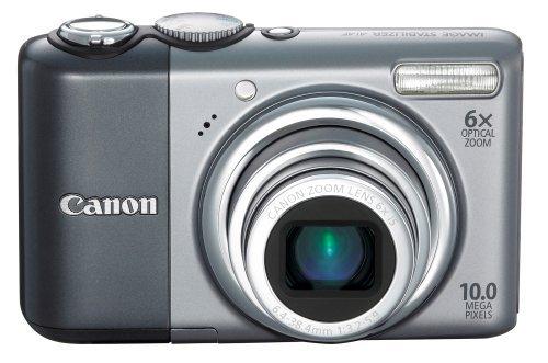 Canon PowerShot A2000 is Kompaktkamera 10 MP 1/2.3 Zoll CCD 3648 x 2736 Pixel Aluminium - Digitalkameras (10 MP, 3648 x 2736 Pixel, 1/2.3 Zoll, CCD, 6X, Aluminium)