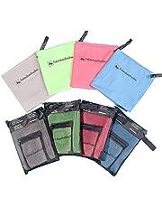 Sneldrogende handdoeken microvezel handdoek set van 2 - 1x ultra lichte handdoek sporthanddoek plus 1x compacte badhanddoek strandhanddoek. Ideaal reishanddoek fitnessdoek absorberend & zachte koeldoek. 4 kleuren.