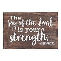 額 - 壁またはスタンドアロン - The Joy of the Lord is Your Strength