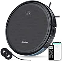 iMartine Robotic Vacuum Cleaner with 2000Pa Strong Suction, Wi-Fi Robot Vacuum with Boundary Strips, Up to 150-min...