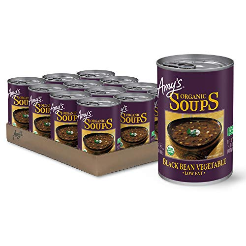 Amy's Soup, Vegan, Gluten Free, Organic Black Bean Vegetable, Low Fat, 14.5 Ounce (Pack of 12)
