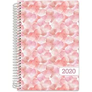 "HARDCOVER Calendar Year 2019 Planner: (November 2018 Through December 2019) 5.5""x8"" Daily Weekly Monthly Planner Yearly Agenda. Bonus Bookmark, Pocket Folder and Sticky Note Set (Leaves)"