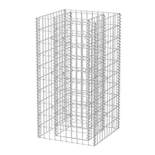 vidaXL Gabionen-Pflanzkorb Stahl 50 x 50 x 100 cm