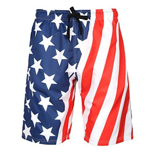 YuanDiann Hombres Talla Extra Gente Gorda Impresión Pantalones Cortos de Playa Natacion Casuales Verano Secado Rápido Bañador Surf Short Traje De Baño Piscina Bermudas Banner 6XL