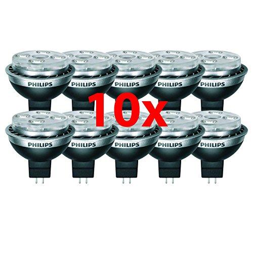 10 Stück Philips MR16 Master LEDspot 7 Watt 827 GU5.3 12V 24 Grad dimmbar 2700 Kelvin warmweiss extra 7W