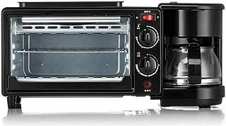 JYDQB Rétro Nostalgie 3-en-1 Petit déjeuner Maker Station 4 Coupe Coffeemaker, 2 tranches Grille-Pain avec minuterie, crêp...