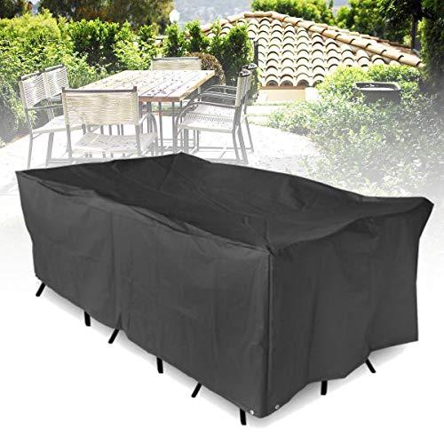 FEIYI Cubierta impermeable para muebles de camping de jardín, patio, mesa de jardín, refugio rectangular, protección contra los rayos UV, protección contra el polvo (color: M)