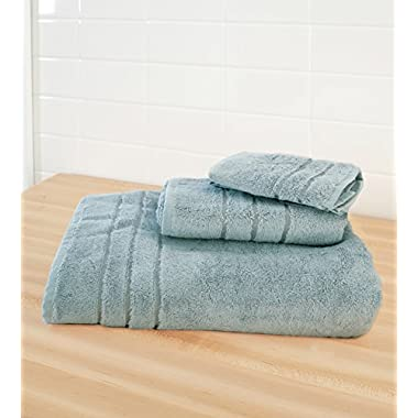 Cariloha Crazy Soft Bamboo 3 Piece Towel Set - Odor Resistant - Moisture Wicking - Bath Towel, Hand Towel and Washcloth (Tahitian Breeze)