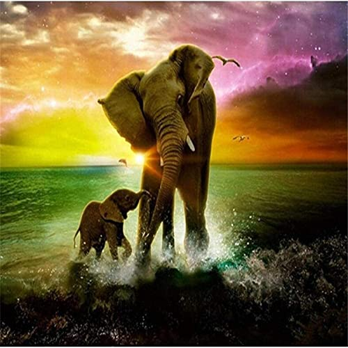 Lacvik Rompecabezas de 6000 Piezas para Adultos - Rompecabezas - Juego de Rompecabezas de Dos Elefantes Obra de Arte para Adultos Adolescentes Familia 180x106cm