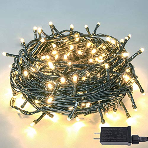 Upgraded 82FT 200 LED Christmas String Lights Outdoor/Indoor (Extendable Green Wire, Ultra-Bright with 8 Modes, UL Certified), Fairy String Lights for...