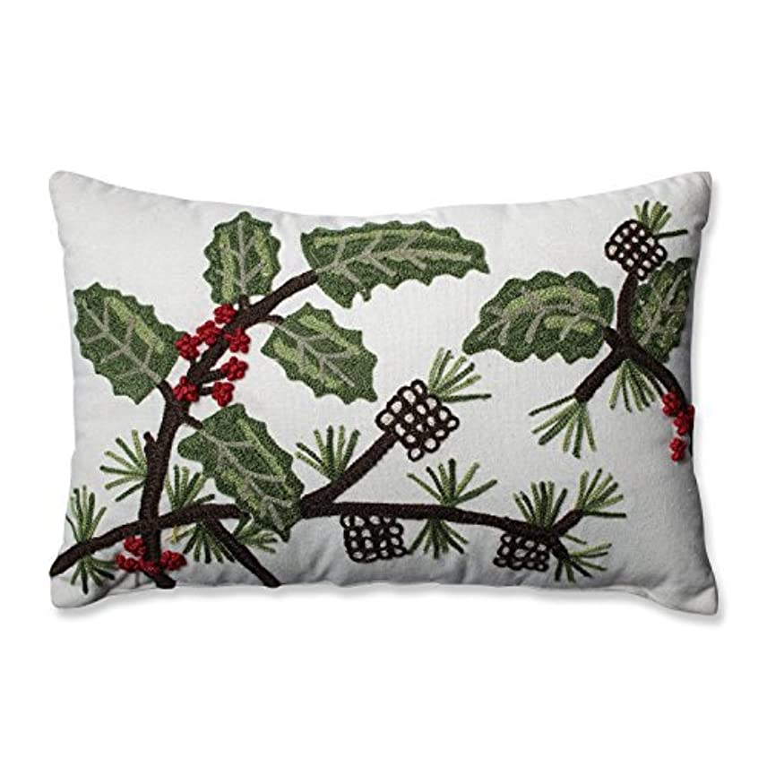 結核同化絶対のPillow Perfect Holly & Berry Pine Rectangular Throw Pillow [並行輸入品]