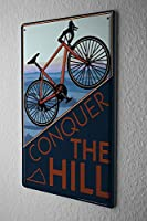 Shimaier 壁の装飾 メタルサイン ウォールアート - Nostalgic Cycling 縦20×横30cm ブリキ看板 店舗装飾 壁面ディスプレー おしゃれ 雑貨 通販 アメリカン ガレージ