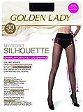 golden lady my secret silhouette 30 3p collant, 30 den, nero (nero 099a), medium (taglia produttore:3 – m) (pacco da 3) donna