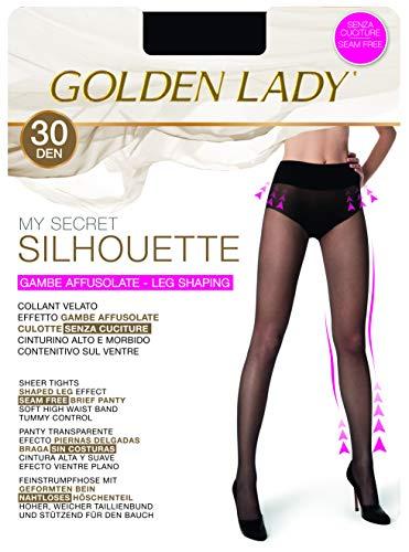 Goldenlady My Secret Silhouette 30 3p Medias, 30 DEN, Negro (Negro 099a), Small (Talla del fabricante: 2 – S) (Pack de 3) para Mujer