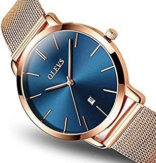 Happy Valentine's Day, Valentine's Day Gifts,Quartz Ladies Watch Ultra Thin Stainless Steel Rose Gold Female Watches Sport Clock Women Wristwatches